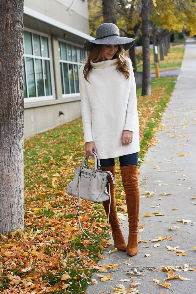 Cognac Over the Knee Boots for Fall