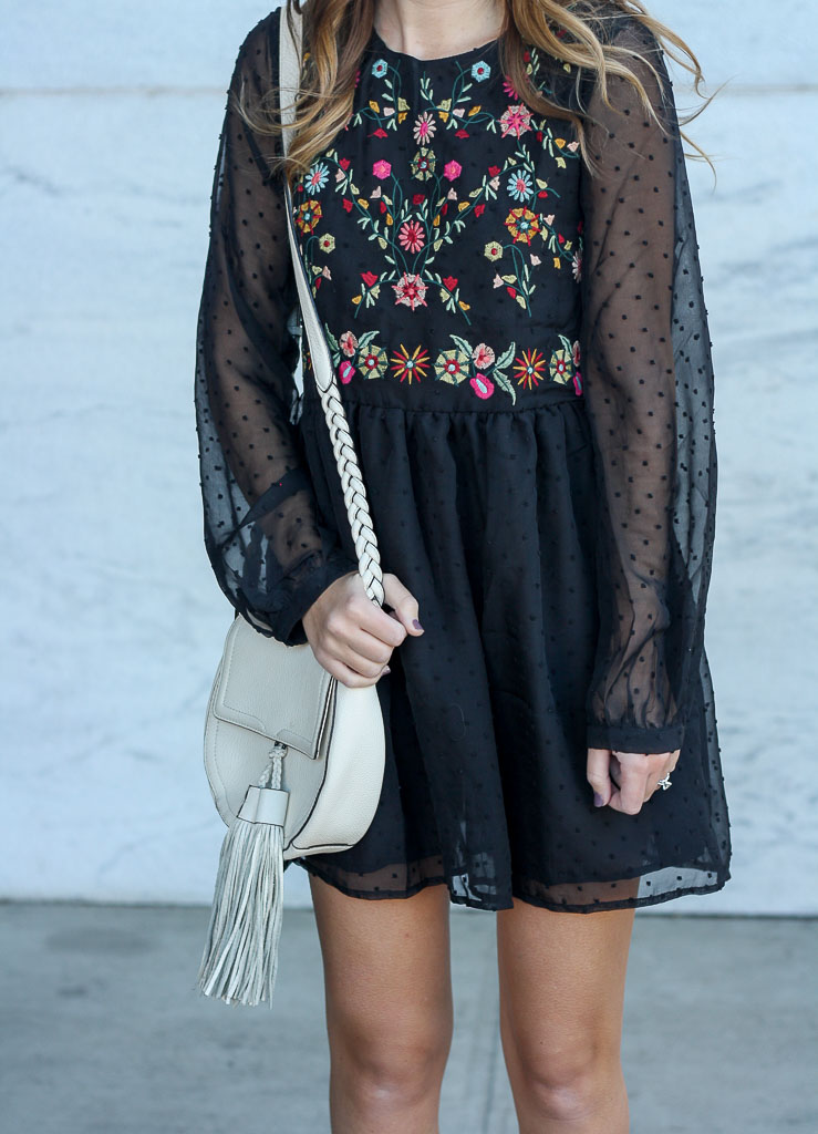 little black embroidered dress