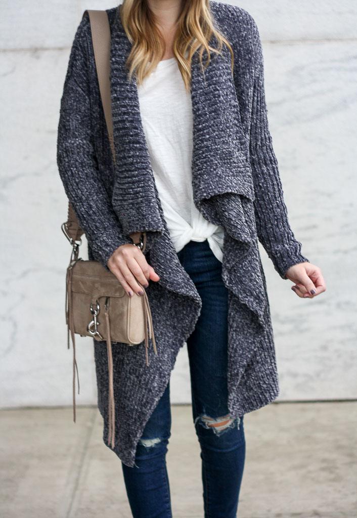 Cozy chenille cardigan