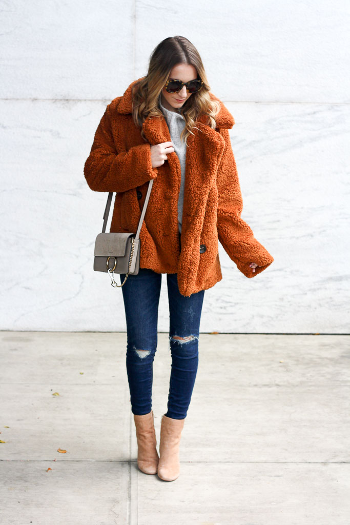teddy bear coat for winter