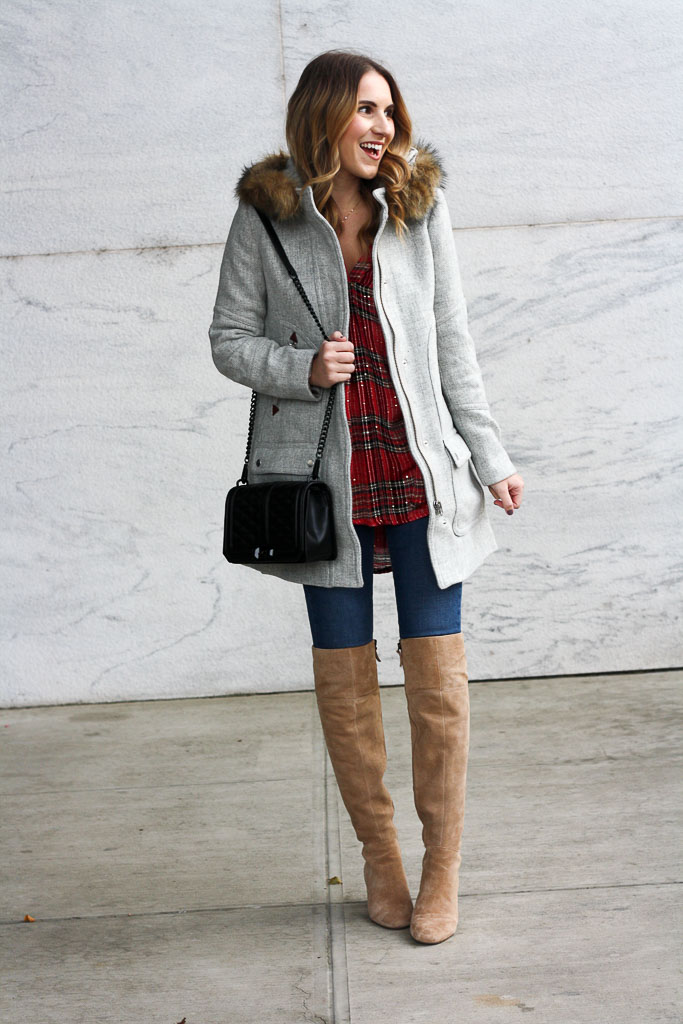 Perfect Plaid Top for the Holidays