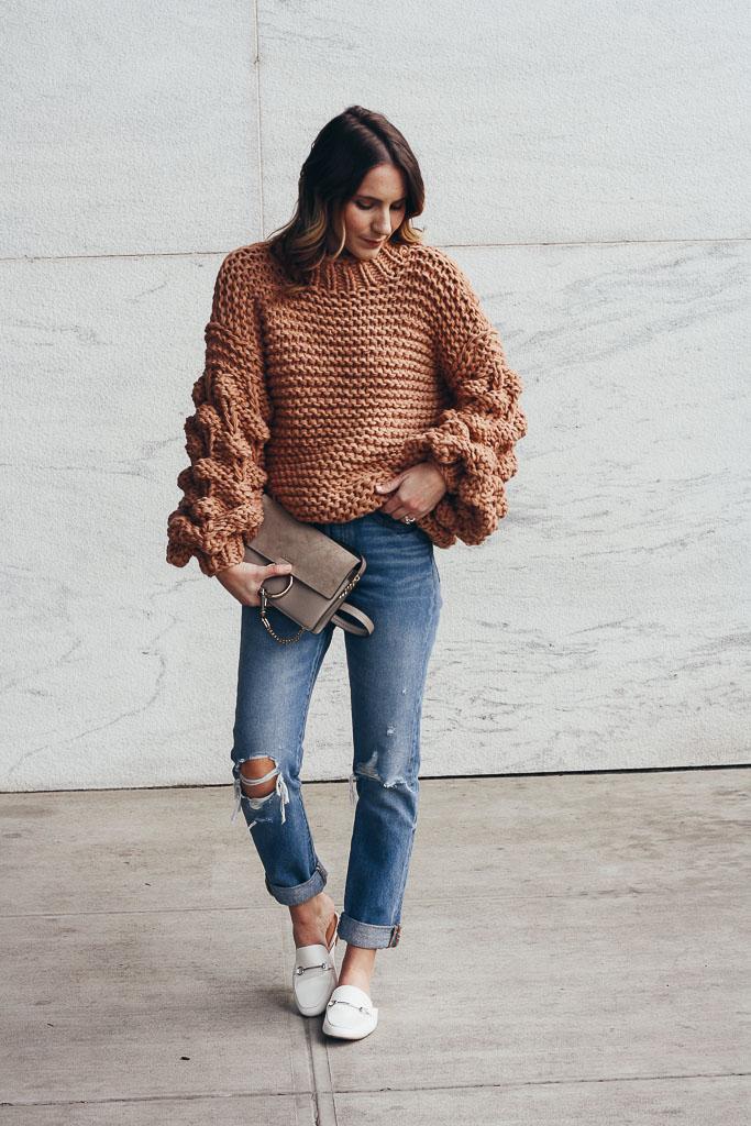 Neutral Pom Sweater