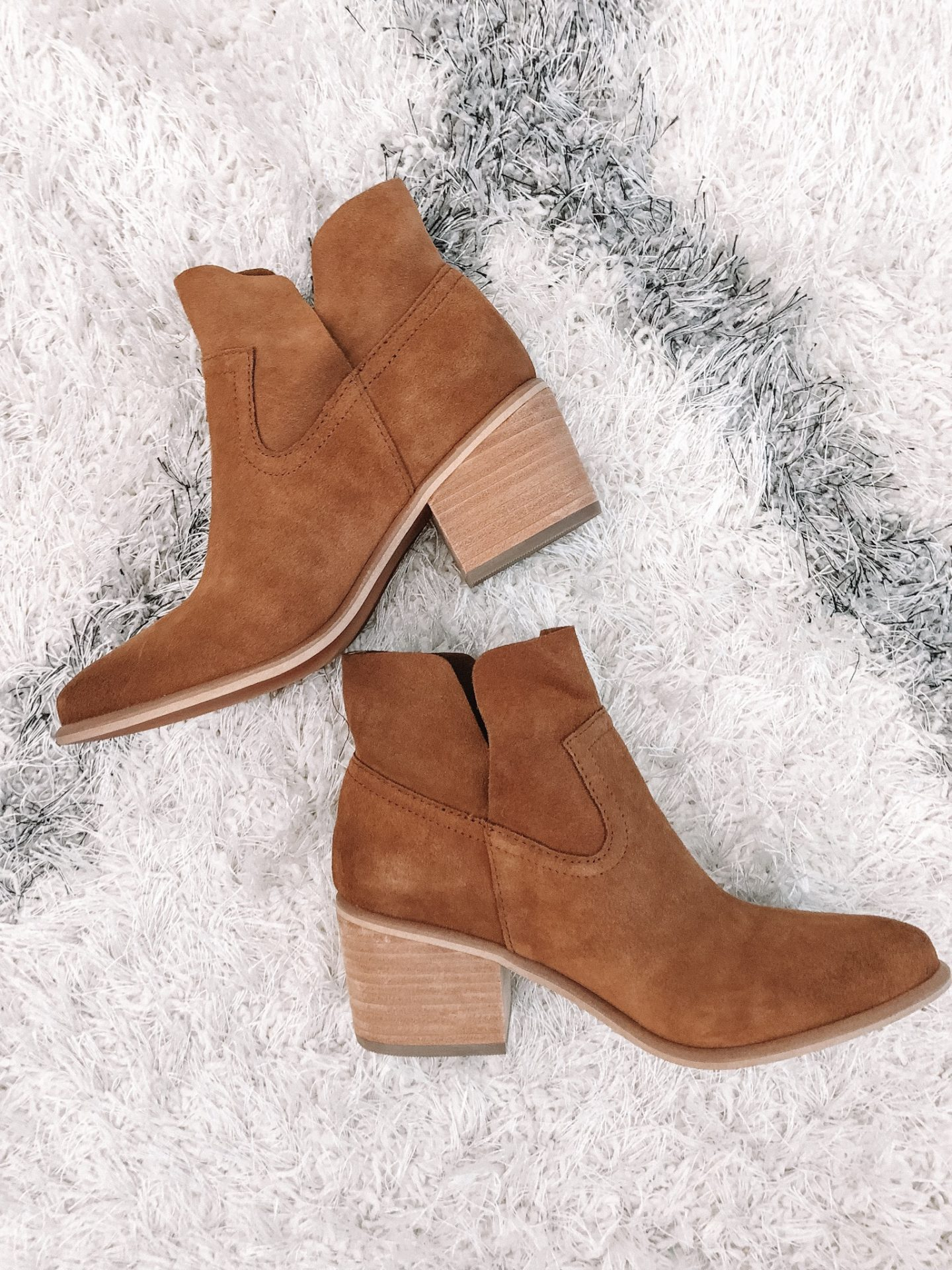 eda2a242c14 BP Brice Notched Booties (NOW   80    AFTER SALE   120 )  So I actually  ordered these booties in two colors (the cognac