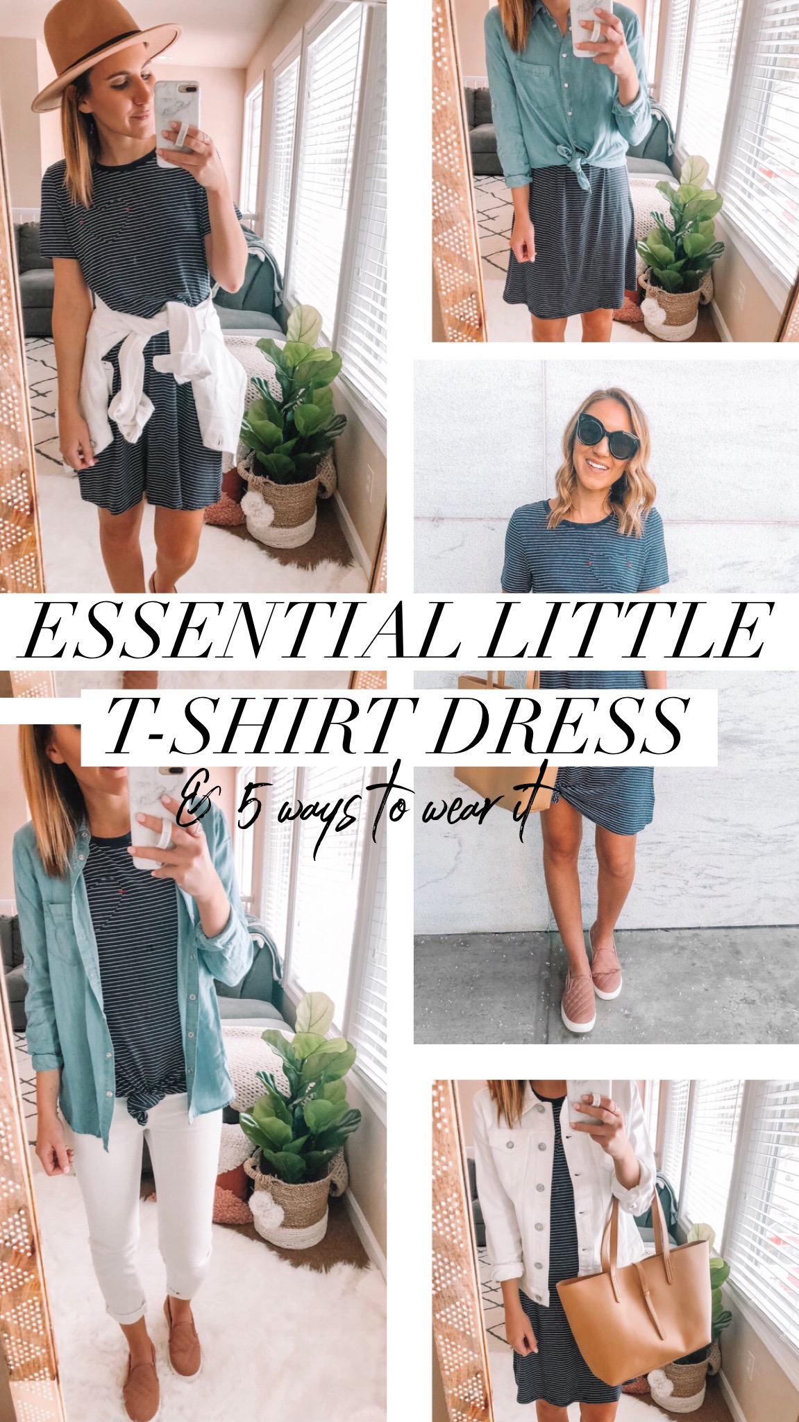 Essential Little T-shirt Dress & 5 Ways to Wear It