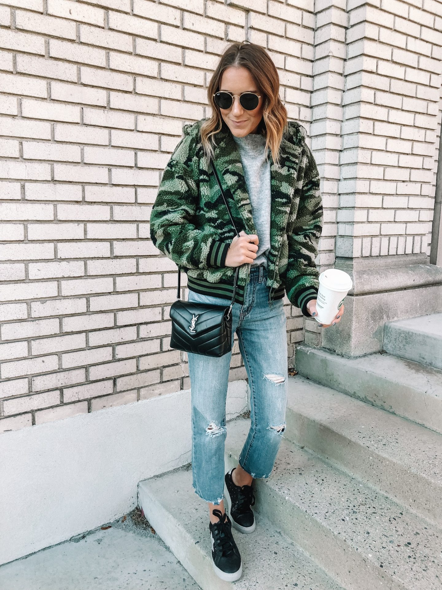 Camo Teddy Jacket and $20 Designer Dupe Sneaks!